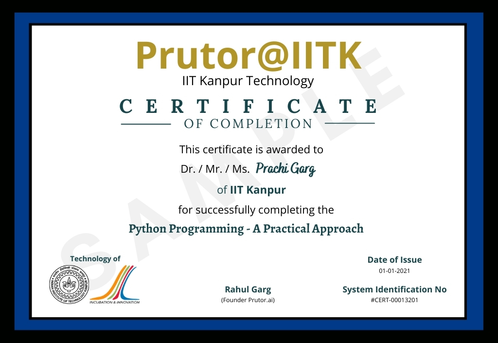 Certificate of Completion - Python